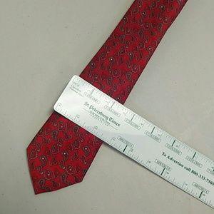 Silk silver paisley Italian tie